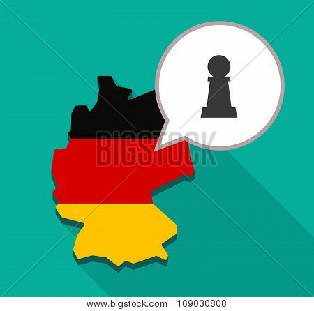 Map Of Germany With A  Pawn Chess Figure