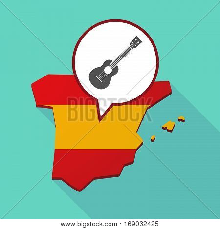 Map Of Spain With  An Ukulele