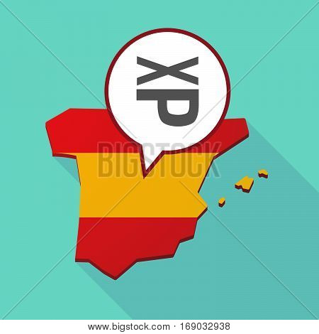 Map Of Spain With  A Tongue Sticking Text Face Emoticon