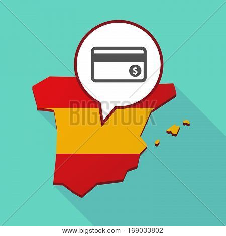Map Of Spain With  A Credit Card