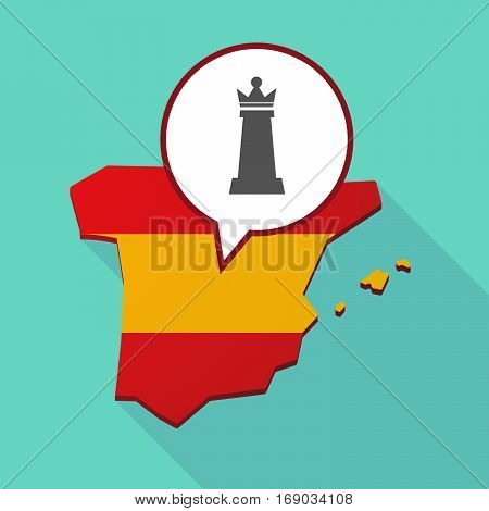 Map Of Spain With A  Queen   Chess Figure
