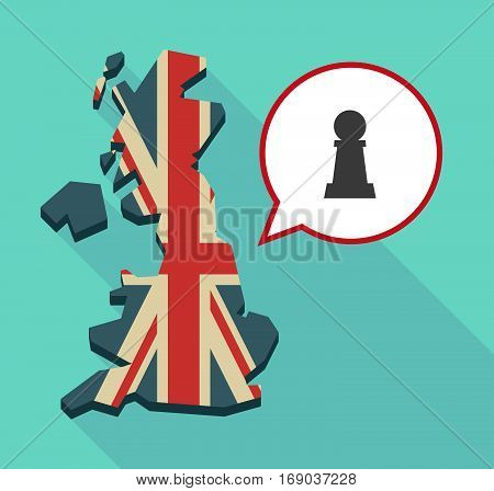 Map Of Uk With A  Pawn Chess Figure