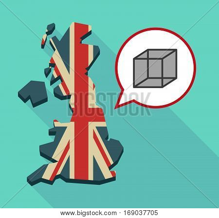 Map Of Uk With  A Cube Sign