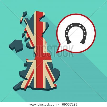 Map Of Uk With  A Horseshoe Sign