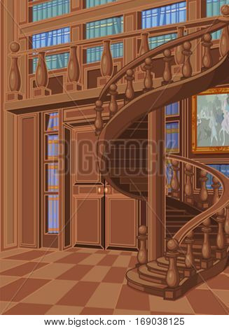 Wooden library in princess palace