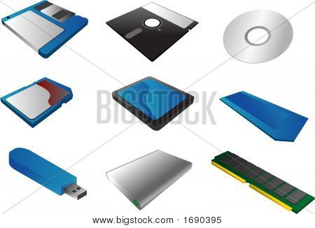 Storage Media Clipart