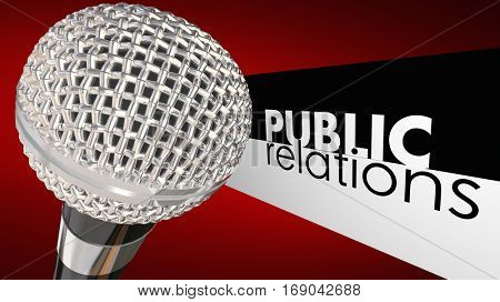 Public Relations PR Microphone Commuincation 3d Illustration