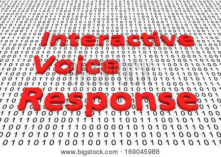 interactive voice response in the form of binary code, 3D illustration