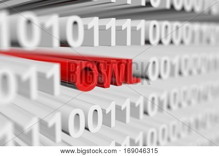 owl as a binary code with blurred background 3D illustration