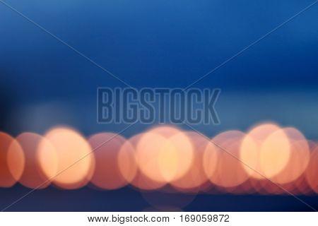 Image of city night lights bokeh, night in Bangkok