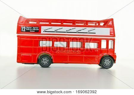 Visit London concept with London bus key chain