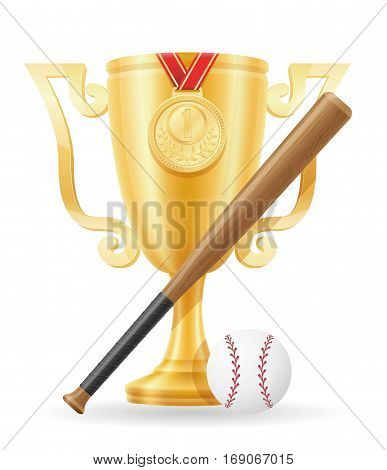 Baseball Cup Winner Gold Stock Vector Illustration