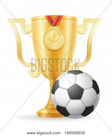 Soccer Cup Winner Gold Stock Vector Illustration