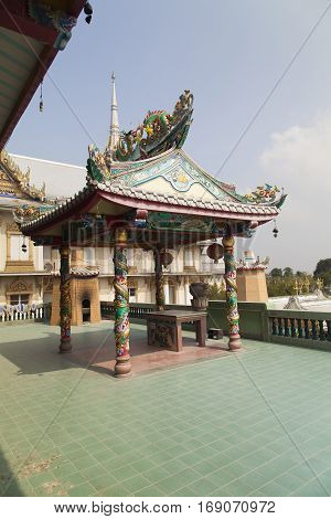 The beautiful Buddhist temple is a place for worship of Buddha