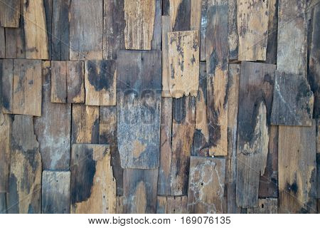 Old slat wood wall vintage texture and background