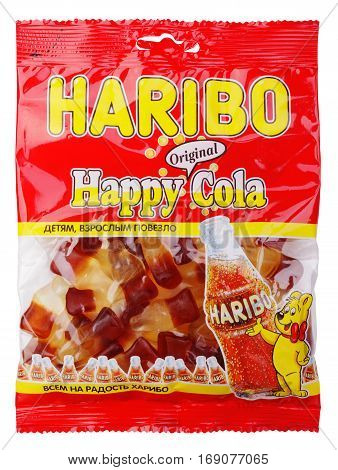 Haribo Happy Cola Candy Isolated On White