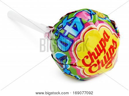 Chupa Chups Xxl 4D Lollipop Candy Isolated On White