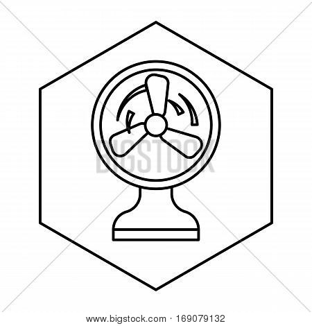 simple thin line electric fan icon vector