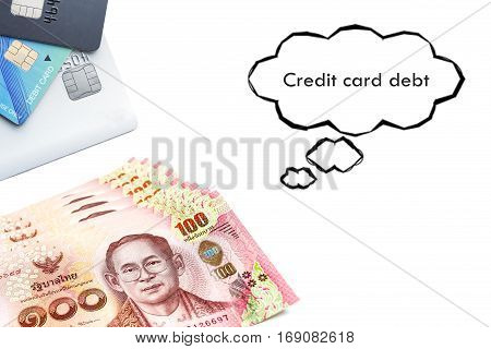 Terms on credit card and debit card Ccredit card debt text