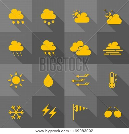 Vector Flat Icon Set - Weather Icons