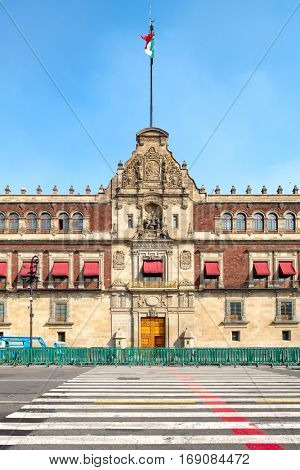 The National Palace next to the Zocalo in Mexico City