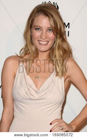 LOS ANGELES - JAN 7:  Ashley Hinshaw at the Art of Elysium 10th Annual Black Tie Heaven Gala at Red Studios on January 7, 2017 in Los Angeles, CA