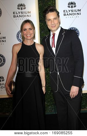 LOS ANGELES - JAN 7:  Radha Mitchell, Cameron Silver at the Art of Elysium 10th Annual Black Tie Heaven Gala at Red Studios on January 7, 2017 in Los Angeles, CA