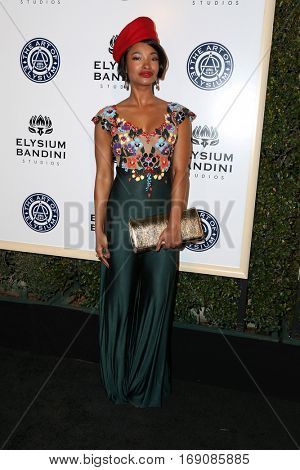 LOS ANGELES - JAN 7:  Angelique Cinelu at the Art of Elysium 10th Annual Black Tie Heaven Gala at Red Studios on January 7, 2017 in Los Angeles, CA