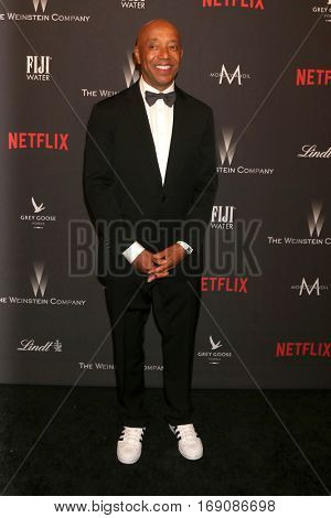 LOS ANGELES - JAN 8:  Russell Simmons at the Weinstein And Netflix Golden Globes After Party at Beverly Hilton Hotel Adjacent on January 8, 2017 in Beverly Hills, CA