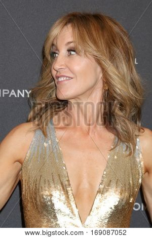 LOS ANGELES - JAN 8:  Felicity Huffman at the Weinstein And Netflix Golden Globes After Party at Beverly Hilton Hotel Adjacent on January 8, 2017 in Beverly Hills, CA