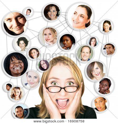 女人尖叫与社会网络