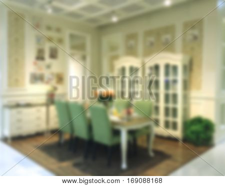 Blurred background of dining room. Blurred background of dining room.
