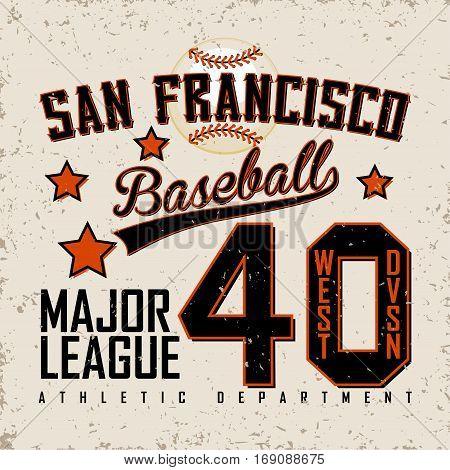 Vintage t-shirt graphic design,  grange print stamp, Creative baseball typography emblem, sports logo, Vector