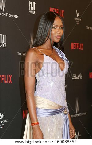 LOS ANGELES - JAN 8:  Naomi Campbell at the Weinstein And Netflix Golden Globes After Party at Beverly Hilton Hotel Adjacent on January 8, 2017 in Beverly Hills, CA