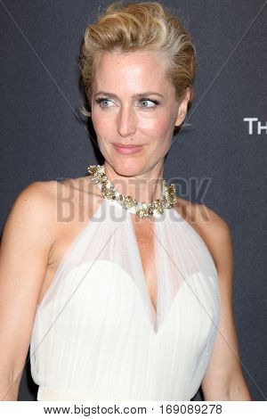 LOS ANGELES - JAN 8:  Gillian Anderson at the Weinstein And Netflix Golden Globes After Party at Beverly Hilton Hotel Adjacent on January 8, 2017 in Beverly Hills, CA