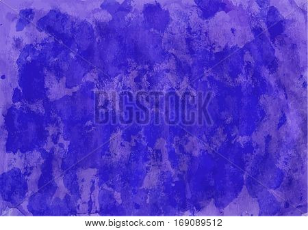 Handpainted dark blue colored watercolor backgrounds for your design.