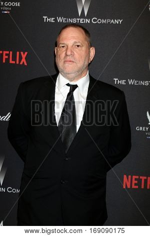 LOS ANGELES - JAN 8:  Harvey Weinstein at the Weinstein And Netflix Golden Globes After Party at Beverly Hilton Hotel Adjacent on January 8, 2017 in Beverly Hills, CA