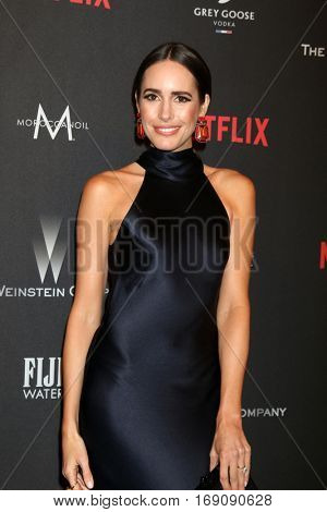 LOS ANGELES - JAN 8:  Louise Roe at the Weinstein And Netflix Golden Globes After Party at Beverly Hilton Hotel Adjacent on January 8, 2017 in Beverly Hills, CA
