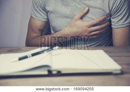 Men's heart is hart in the studio