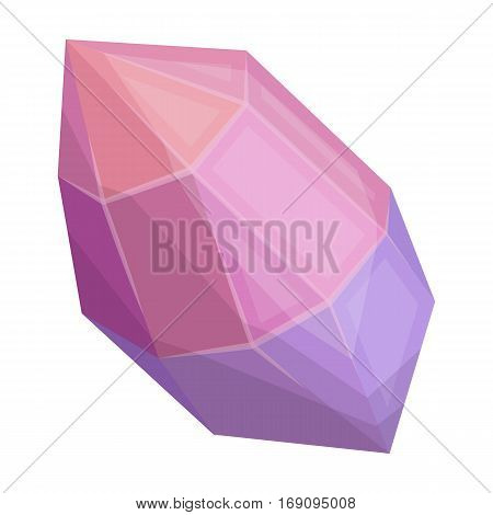 Rough gemstone icon in cartoon design isolated on white background. Precious minerals and jeweler symbol stock vector illustration.