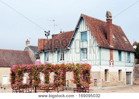Typical french old half-timbered house in downtown Caen, Normandy