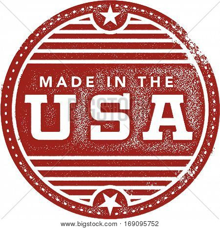Vintage Made in the USA Rubber Stamp