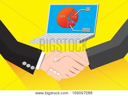 Businessman handshaking Business Deal Succes Business Partnership
