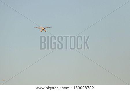 New York, United States. September 22Nd 2016 - Seaplane Landing On East River In New York