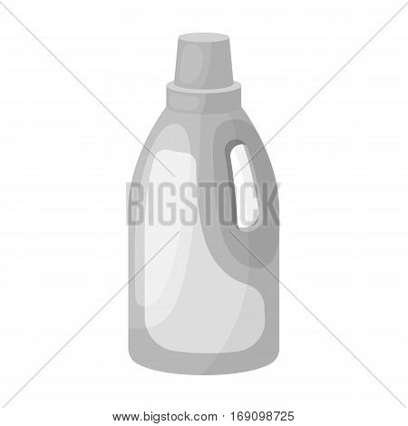 Laundry detergent icon in monochrome design isolated on white background. Cleaning symbol stock vector illustration.