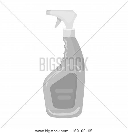 Cleaner spray icon in monochrome design isolated on white background. Cleaning symbol stock vector illustration.