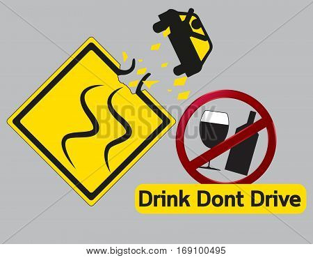 Vector concept Danger Drink dont and drive