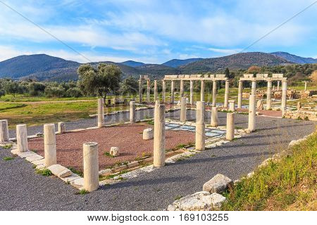 ruins of ancient city of Messina, Peloponnese january 2017