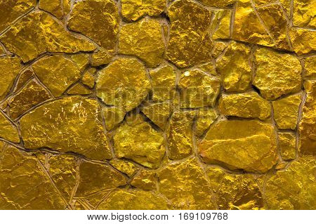 Golden yellow wall luxury abstract background concept