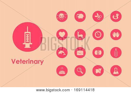 It is a set of veterinary simple web icons